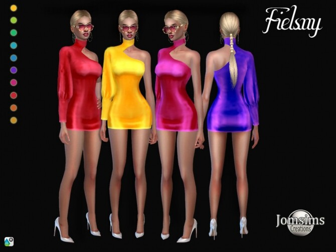 Sims 4 Fielsny dress by jomsims at TSR