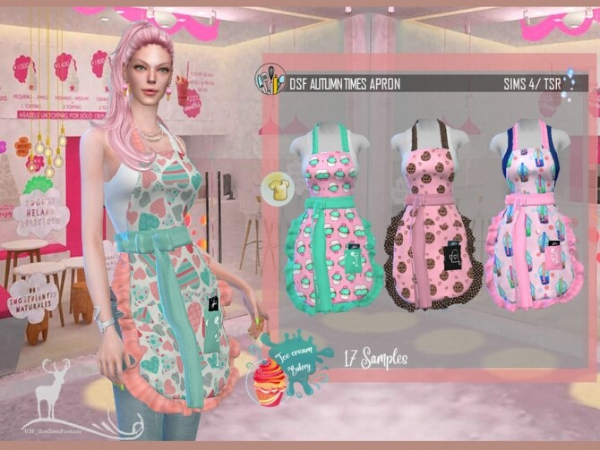DSF AUTUMN TIMES APRON by DanSimsFantasy at TSR image 41 670x503 Sims 4 Updates