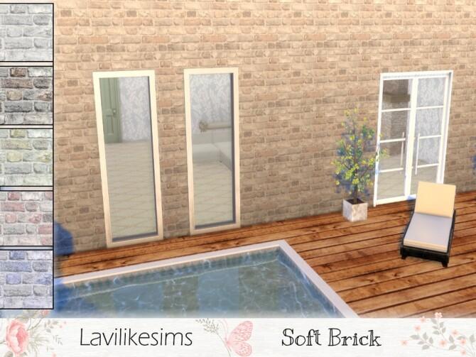 Sims 4 Soft Bricks wall by lavilikesims at TSR