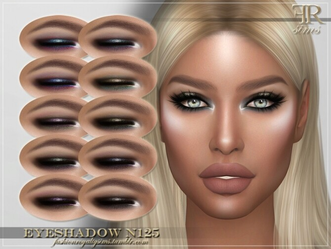 Sims 4 FRS Eyeshadow N125 by FashionRoyaltySims at TSR