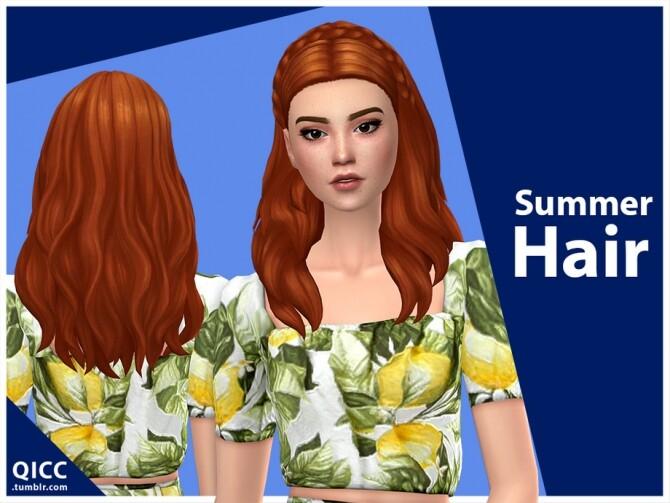 Sims 4 Summer Hair by qicc at TSR