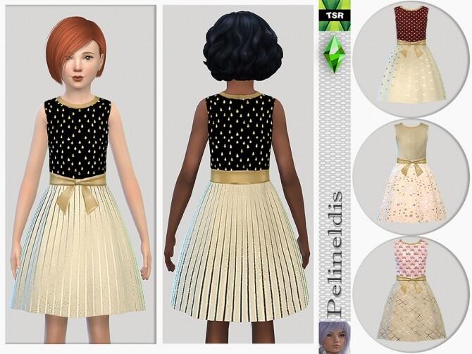 Sims 4 Shimmering Dress by Pelineldis at TSR