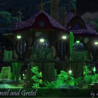 Hansel and Gretel home by dasie2