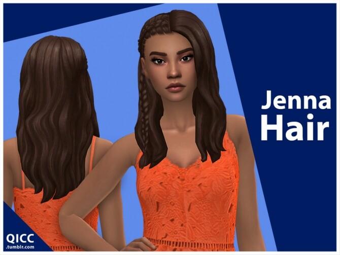 Sims 4 Jenna Hair by qicc at TSR