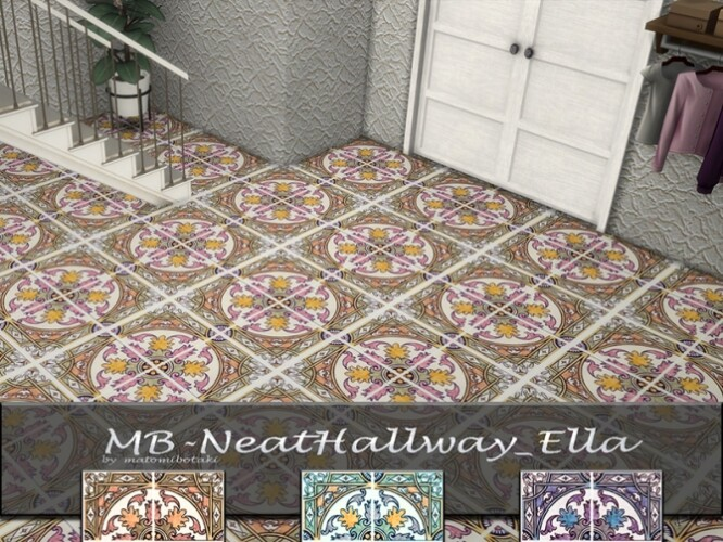 Neat Hallway Ella tiles by matomibotaki
