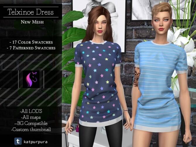 Sims 4 Telxinoe Dress by KaTPurpura at TSR