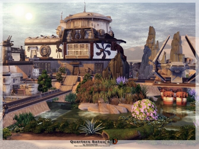 Sims 4 Quarters Batuu by Danuta720 at TSR
