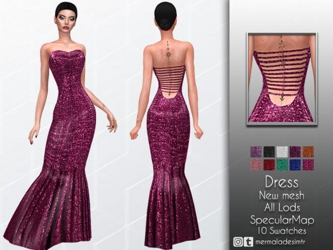 Sims 4 Dress MC52 by mermaladesimtr at TSR