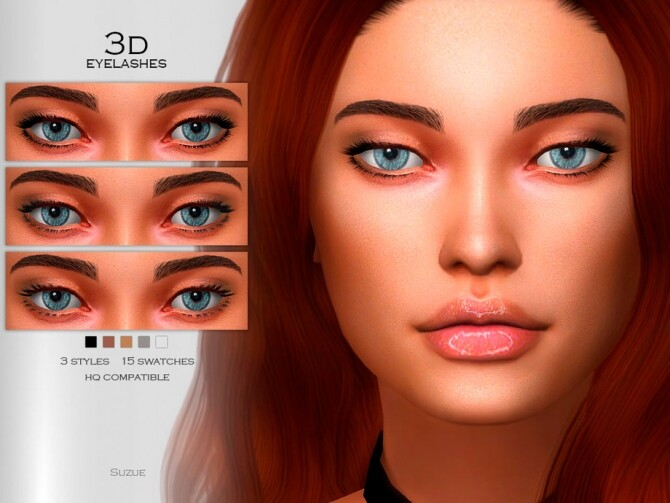 Sims 4 3D Eyelashes by Suzue at TSR