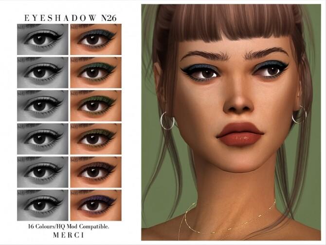 Sims 4 Eyeshadow N26 by Merci at TSR