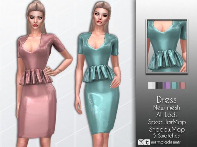 Sims 4 Dress MC61 by mermaladesimtr at TSR