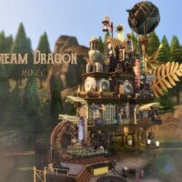 Steam Dragon House by VirtualFairytales