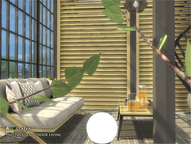 Sims 4 Inglewood Outdoor Living by ArtVitalex at TSR