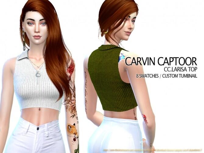 Sims 4 Larisa top by carvin captoor at TSR