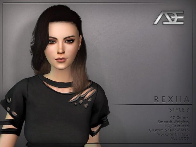 Sims 4 Rexha Style 3 Hair by Ade Darma at TSR