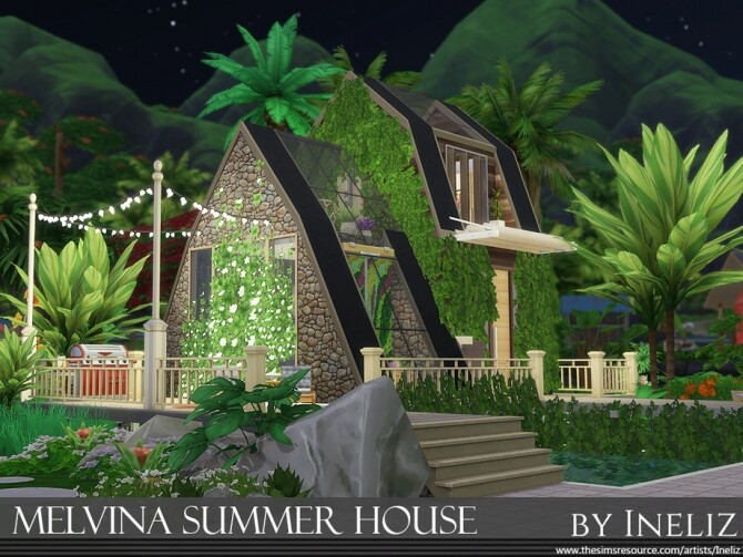 Melvina Summer House by Ineliz at TSR image 461 670x503 Sims 4 Updates