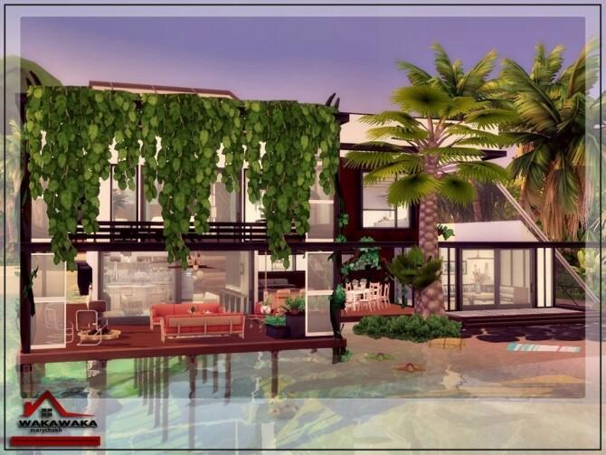 Sims 4 WAKAWAKA Home by marychabb at TSR