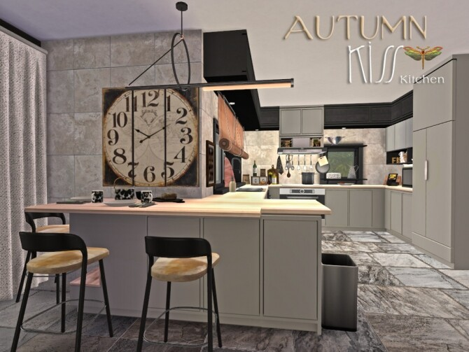 Sims 4 Autumn Kiss Kitchen by fredbrenny at TSR