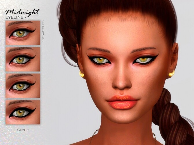 Sims 4 Midnight Eyeliner N11 by Suzue at TSR