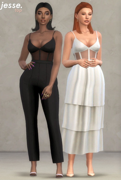 Sims 4 Jesse Top by Christopher067 at TSR