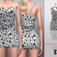 One Shoulder Dress C211 by turksimmer