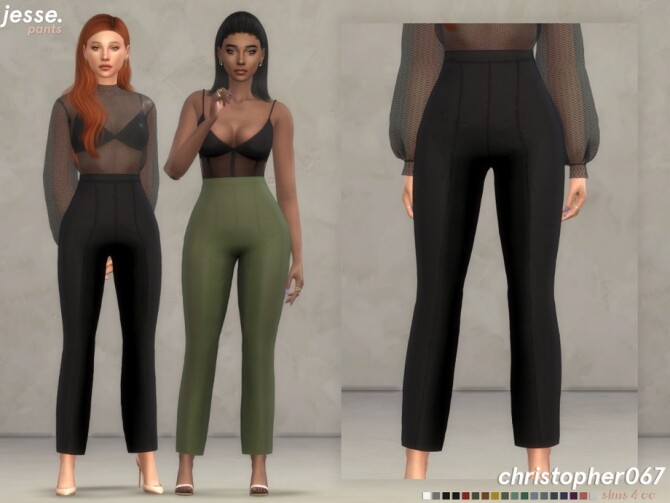 Sims 4 Jesse Pants by Christopher067 at TSR