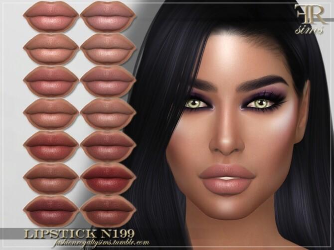 Sims 4 FRS Lipstick N199 by FashionRoyaltySims at TSR