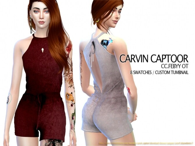 Febyy OT romper by carvin captoor at TSR image 4914 670x503 Sims 4 Updates