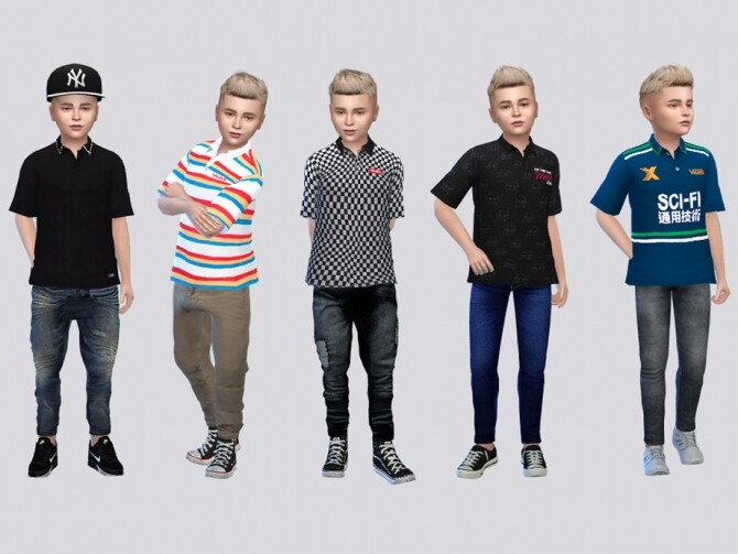 Casual Polo Kids by McLayneSims at TSR image 497 670x503 Sims 4 Updates
