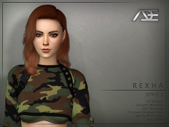 Sims 4 Rexha Style 2 Hair by Ade Darma at TSR