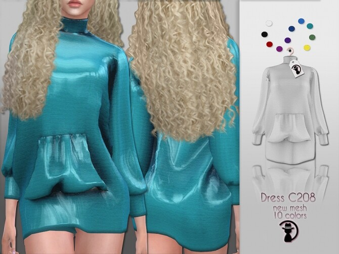 Sims 4 Dress C208 by turksimmer at TSR
