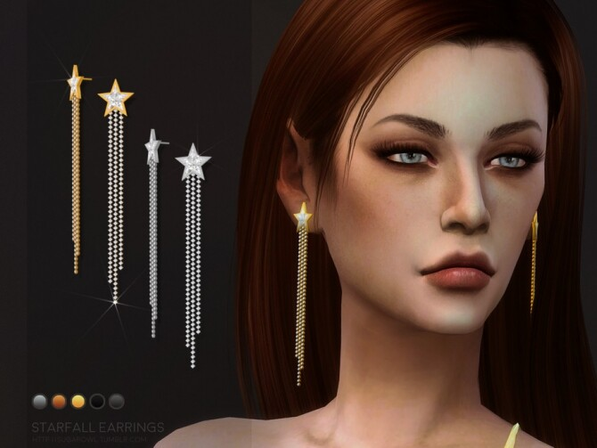 Starfall earrings by sugar owl at TSR image 5103 670x503 Sims 4 Updates