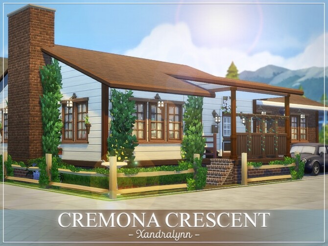 Sims 4 Cremona Crescent Home by Xandralynn at TSR