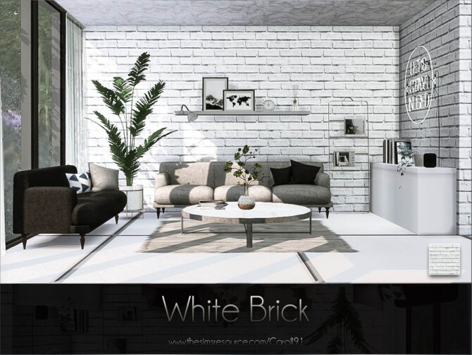 White Brick Wall By Caroll91 At Tsr Sims 4 Updates