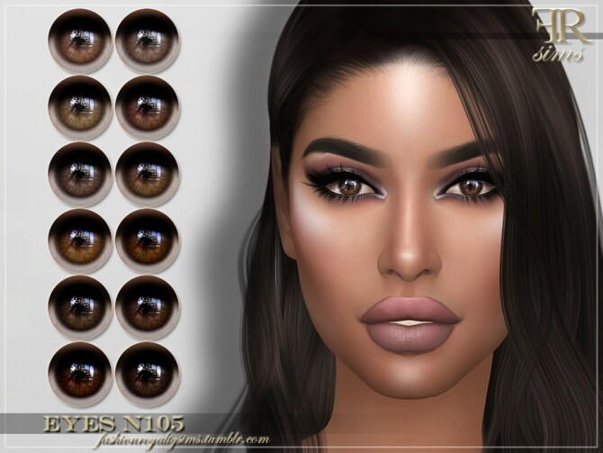 Sims 4 FRS Eyes N105 by FashionRoyaltySims at TSR