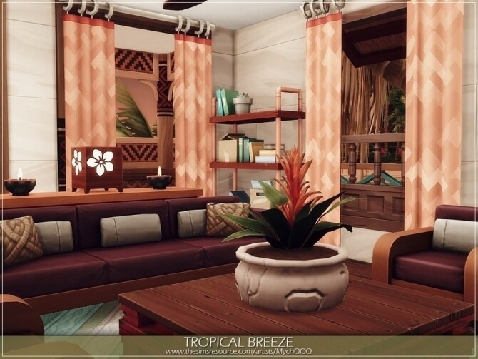 Sims 4 Tropical Breeze Home by MychQQQ at TSR