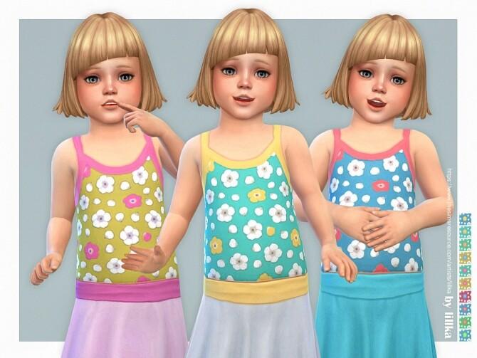 Sims 4 Daisy Top by lillka at TSR