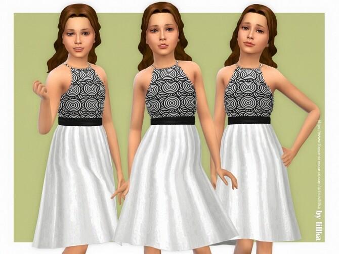 Sims 4 Sarah Dress by lillka at TSR