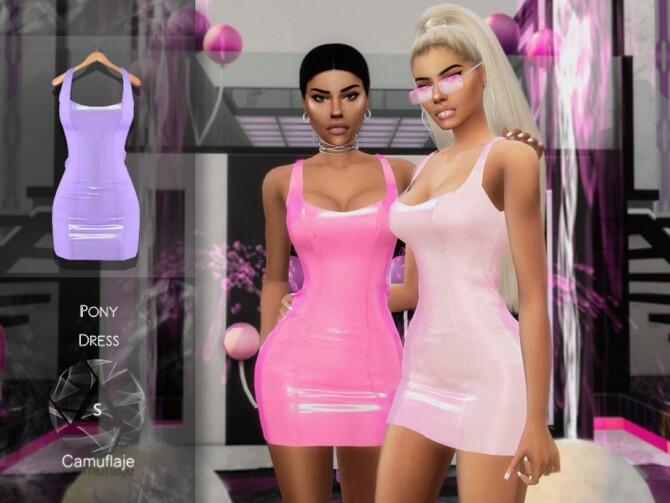 Sims 4 Pony Dress by Camuflaje at TSR