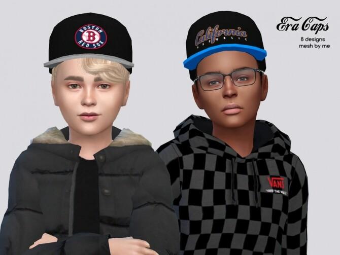 Sims 4 Era Caps Kids by McLayneSims at TSR