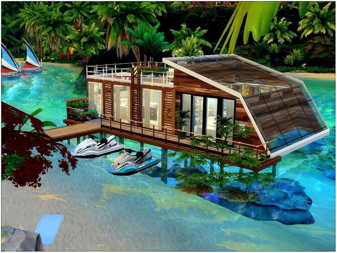 Sims 4 Floating House by lotsbymanal at TSR