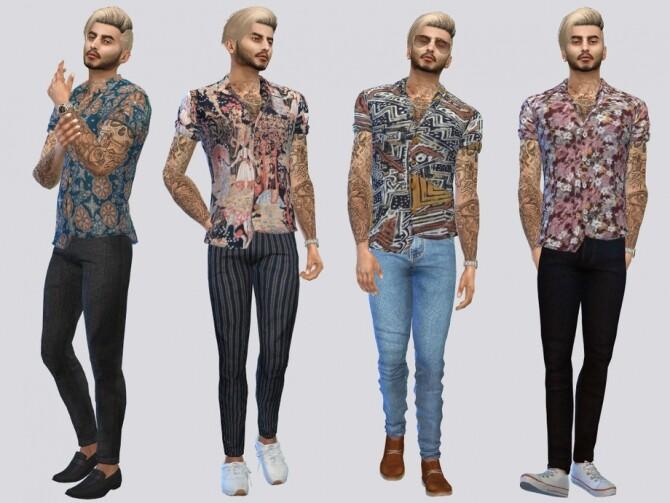 Sims 4 Batik Motif Shirts by McLayneSims at TSR