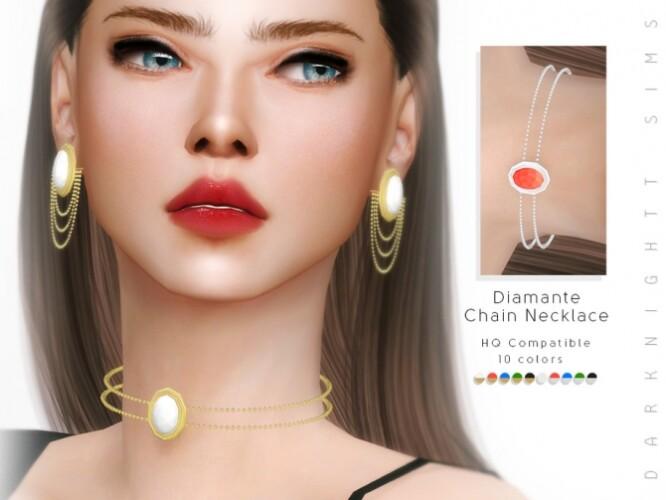 Diamante Chain Necklace by DarkNighTt