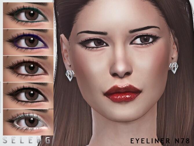 Sims 4 Eyeliner N78 by Seleng at TSR