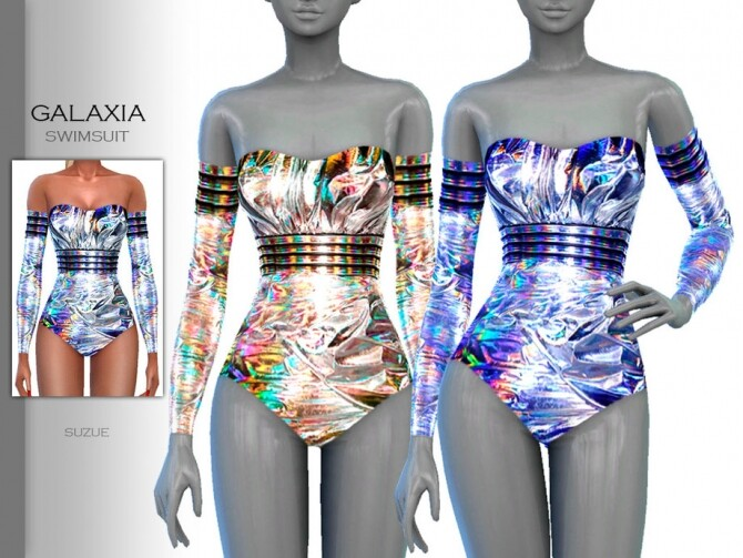 Sims 4 Galaxia Swimsuit by Suzue at TSR