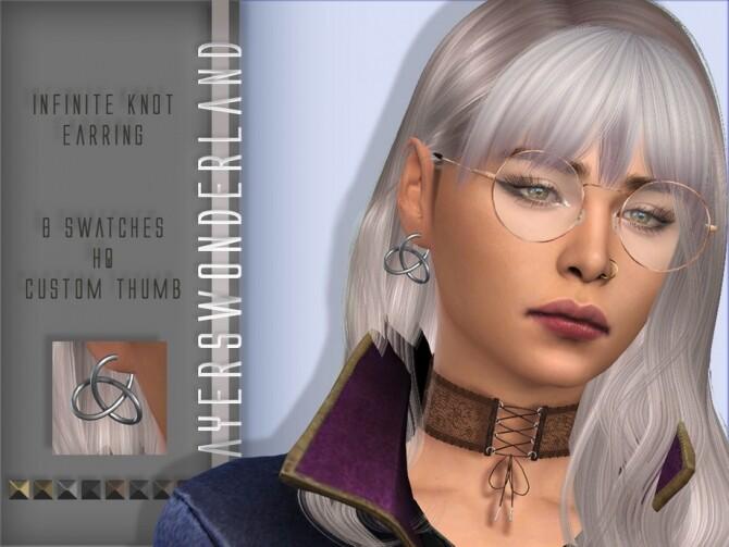 Sims 4 Infinite Knot Earring by PlayersWonderland at TSR