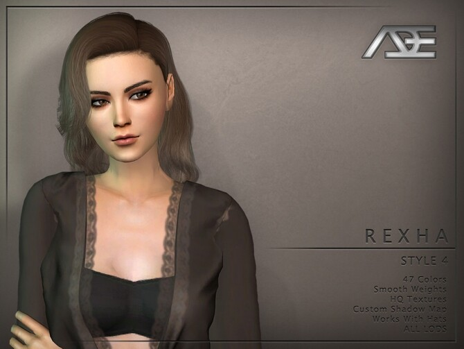 Sims 4 Rexha Style 4 Hairstyle by Ade Darma at TSR