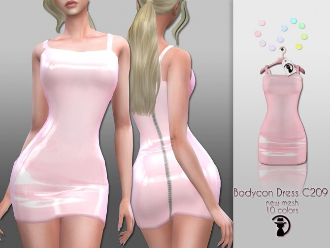 Sims 4 Bodycon Dress C209 by turksimmer at TSR