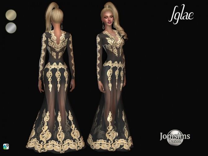 Sims 4 Iglae dress by  jomsims at TSR