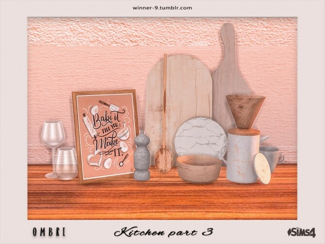 Sims 4 Ombre Kitchen part 3 by Winner9 at TSR